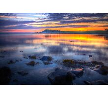 Sunset at Strangford Lough Photographic Print