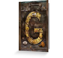 Steampunk - Alphabet - G is for Gears Greeting Card