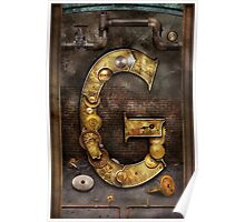 Steampunk - Alphabet - G is for Gears Poster