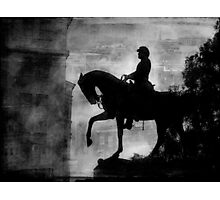A Step Back in Time (Black & White Version) Photographic Print