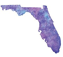 Florida Purple Watercolor Photographic Print