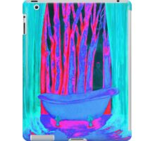 Bathroom with dreams energy painting pink rosa and blue iPad Case/Skin