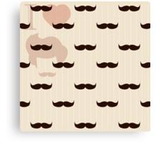 Vintage retro hipster mustache wallpaper Canvas Print