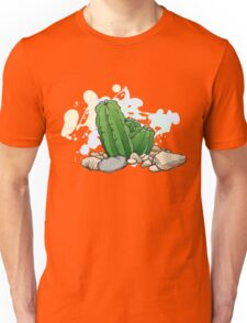 Vector image of cactus, stones and a shell Unisex T-Shirt