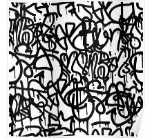 Black and White Graffiti Poster