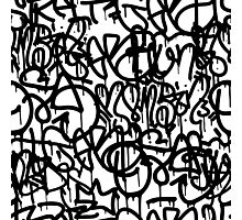 Black and White Graffiti Photographic Print