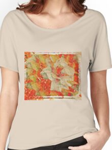 Antique Rose Collage Women's Relaxed Fit T-Shirt