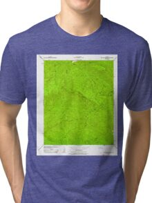 USGS TOPO Map California CA Big Pine Mountain 288410 1943 24000 geo Tri-blend T-Shirt