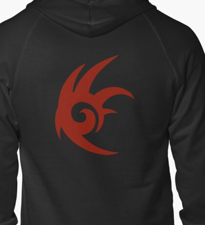 Shadow the hedgehog cosplay hoodie v2 Zipped Hoodie
