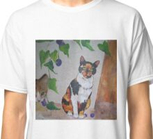 Calico Cat painting and part of Spankypants Classic T-Shirt