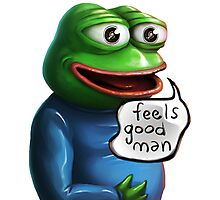 Feels Good Man Pepe the Frog HD Photographic Print