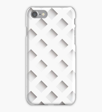 Abstract geometric 3D background, stripes and squares iPhone Case/Skin