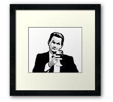 Barney Stinson How i met your mother Framed Print