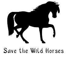 Save the Wild Horses! Save the Wild Ponies!. Photographic Print