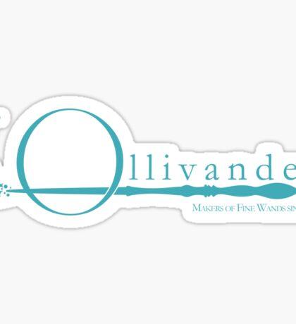 Ollivanders Logo in Blue Sticker