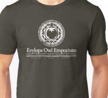 Eeylops Owl Emporium in White Unisex T-Shirt
