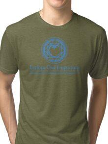 Eeylops Owl Emporium in Blue Tri-blend T-Shirt
