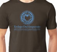 Eeylops Owl Emporium in Blue Unisex T-Shirt