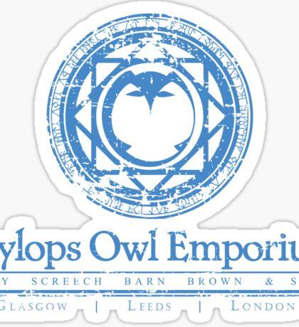 Eeylops Owl Emporium in Blue Sticker