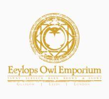 Eeylops Owl Emporium in Yellow Baby Tee
