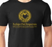 Eeylops Owl Emporium in Yellow Unisex T-Shirt