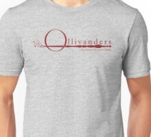 Ollivanders Logo in Red Unisex T-Shirt