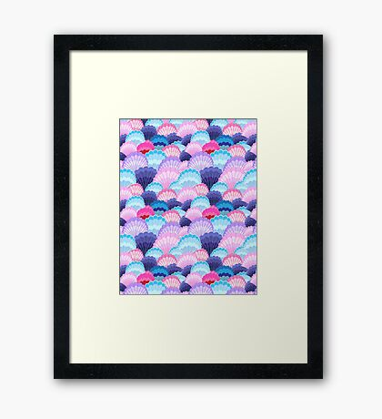 Multicolored pattern of seashells Framed Print