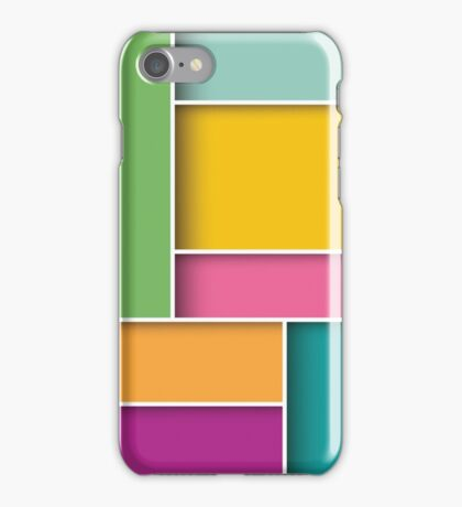 Abstract 3d square background, colorful tiles, geometric iPhone Case/Skin