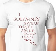 I Solemnly Swear That I Am Up To No Good (Red) Unisex T-Shirt