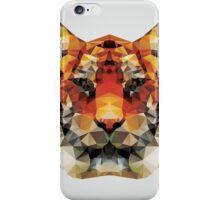 Geometric polygon tiger head, triangle pattern design iPhone Case/Skin