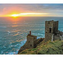 Crown Mines Botallack, Cornwall Photographic Print