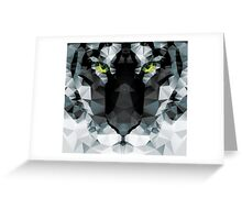 Geometric polygon white tiger head, triangle pattern design Greeting Card