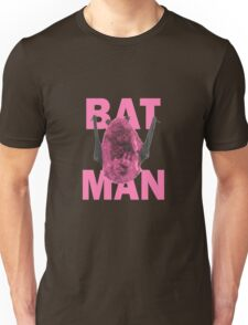 Bat Man in Pink Unisex T-Shirt