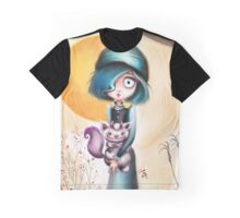 Goth Girl & Creepy Cute Monster Pet Graphic T-Shirt