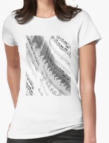 Piano Music Womens Fitted T-Shirt
