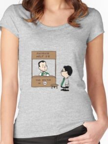TBBT PEANUTS CHARLIE BROWN Women's Fitted Scoop T-Shirt
