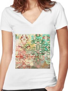 Untitled 101216 Women's Fitted V-Neck T-Shirt