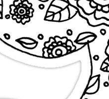 zentangle y: black/white  Sticker