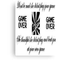 Play the Game Canvas Print