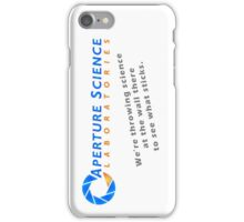 Aperture Science Laboratories iPhone Case/Skin