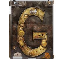 Steampunk - Alphabet - G is for Gears iPad Case/Skin