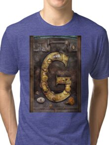 Steampunk - Alphabet - G is for Gears Tri-blend T-Shirt