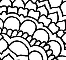 zentangle x: black/white Sticker