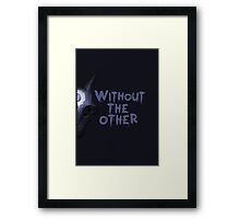 Without the other Wolf Kindred (part) Framed Print