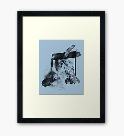 Music Painter - Blue Framed Print