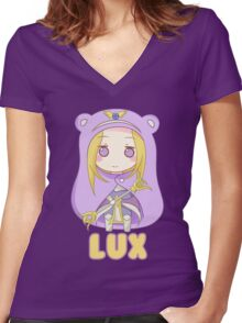 Lux Chibi Women's Fitted V-Neck T-Shirt