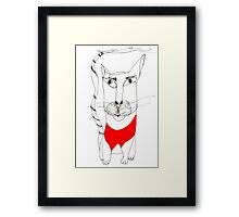 Magoo in Red Framed Print