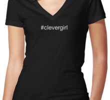 #clevergirl Women's Fitted V-Neck T-Shirt