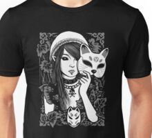 girl with cat mask Unisex T-Shirt