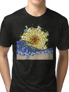Beach Sunrise Tri-blend T-Shirt